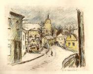 Bílkovský František, litografie, Dačice