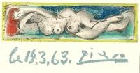 Picasso Pablo, litografie, Madame Trois