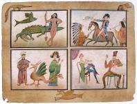 Born Adolf, Výprava do čtyř kontinentů, barevná litografie