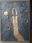Zoubek Olbram, Astrologie, zlacený cínový reliéf