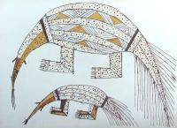 Tumuc Humac, litografie, Pásovec